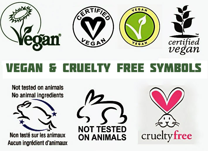 VEGAN and CRUELTY FREE SYMBOLS