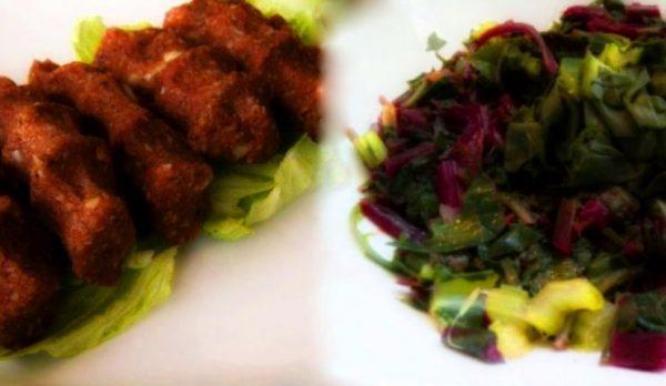 Vegan Raw Κεφτέδες και Σαλάτα με 4 χόρτα