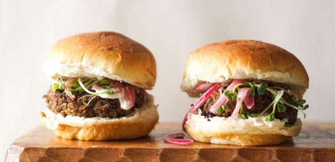 Vegan burgers με Φακές Καρύδια Μανιτάρια