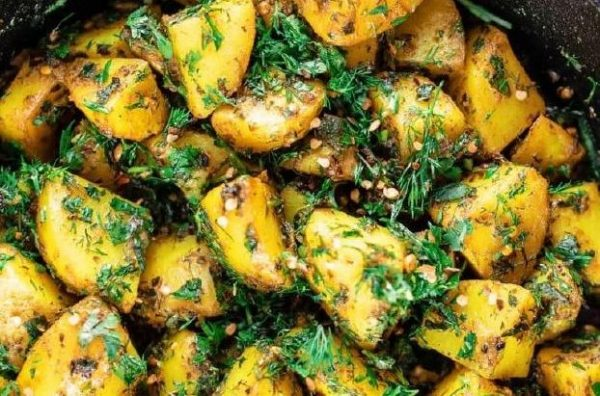 Πατάτες συνταγή με γεύση από Μέση Ανατολή