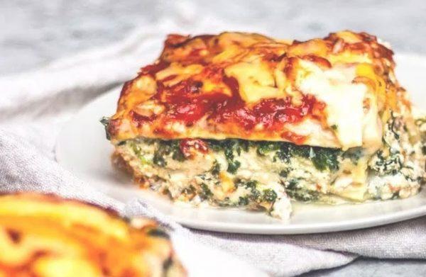 Συνταγή Vegaή Λαζάνια με Σπανάκι και vegan Ricotta Cheese