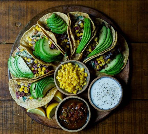 Vegan Tacos με vegan Sour Creme