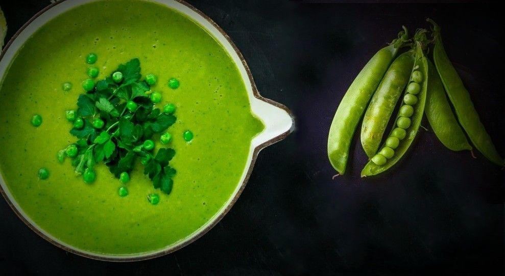 Βελουτέ vegan Σούπα με Λοβούς Αρακά