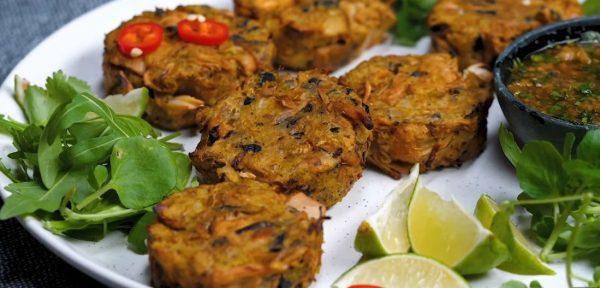 Vegan Κροκέτες Ψαριού μεσπιτική Thai σάλτσα