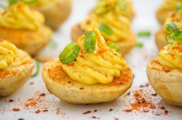 Τραγανές Ψητές Πατάτες με Μους Φασολιών