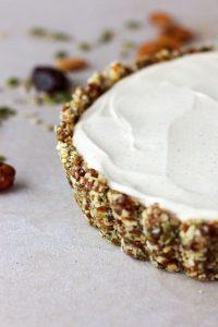 συνταγή Vegan Raw Cheesecake με Λάιμ και Βανίλια gluten free