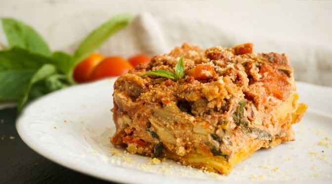 Vegan Λαζάνια με Μπεσαμέλ από Κάσιους συνταγή