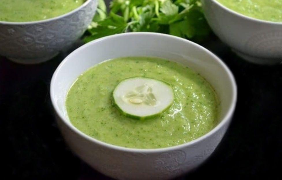 ΔροσερόΠράσινο Γκασπάτσο raw_vegan συνταγή
