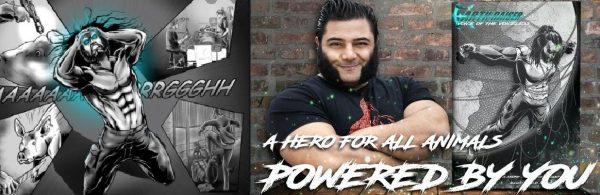 Ο Vegan Strongman Patrik Baboumian κυκλοφορεί κόμικ για τα δικαιώματα των ζώων