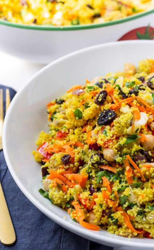 Σαλάτα Κουσκούς με Ψητά Λαχανικά και Σως Κύμινο-Κόλιανδρο