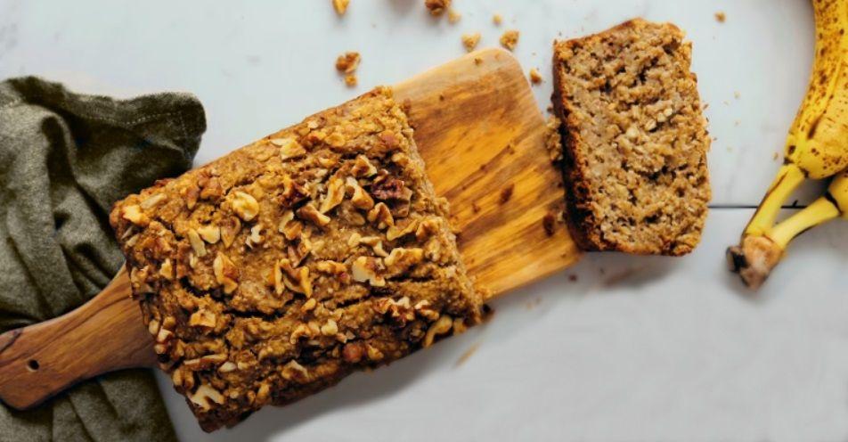 Κέικ Μπανάνας χωρίς γλουτένη βίγκαν γλυκό vegan συνταγή