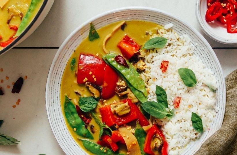 πράσινο κάρυ vegan συνταγή