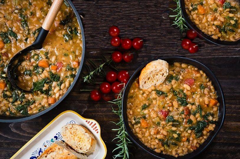Φασολάδα με σιτάρι Ζέας και Λαχανικά vegan συνταγή χωρίς γλουτένη