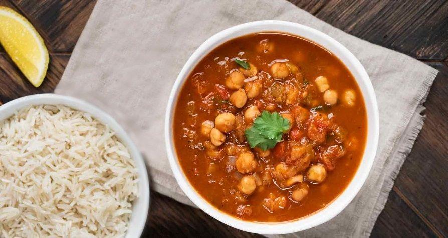 Ρεβίθια Μασάλα με Μπασμάτι Ρύζι - φυτική πρωτεΐνη vegan συνταγή