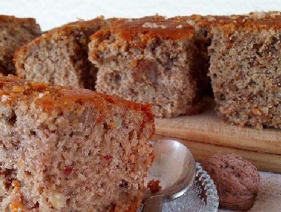 vegan Ταχινόπιτα κέικ με καρύδια συνταγή