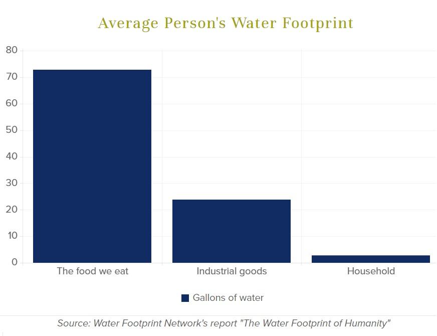 κατανάλωση νερού βάση διατροφής