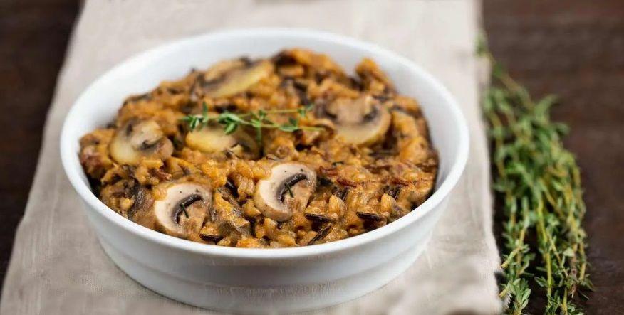 Vegan Ριζότο με Ρύζι Ανάμεικτο, Μανιτάρια, Κάσιους και Διατροφική Μαγιά συνταγή