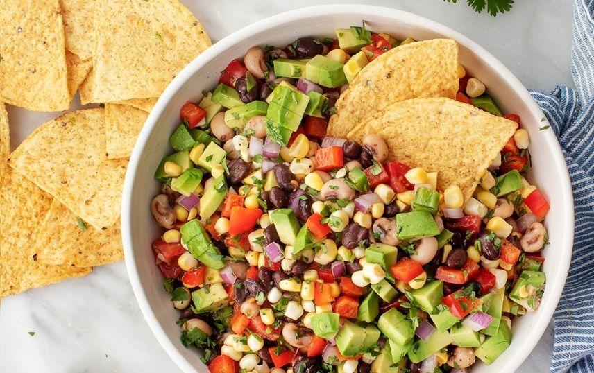 Ανάμεικτη Σαλάτα με Φασόλια και Λαχανικά vegan συνταγή βίγκαν