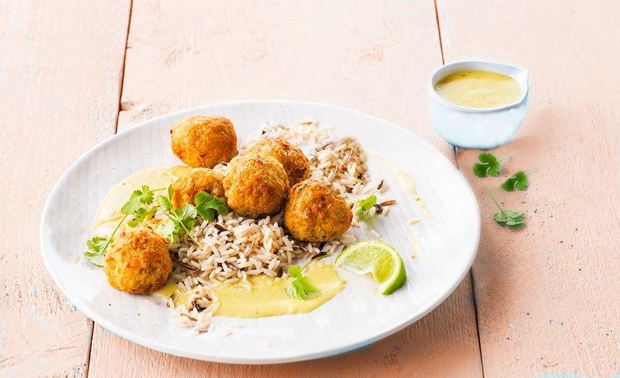 Vegan Κεφτεδάκια Κόκκινης Φακής με Ρύζι σε σάλτσα Καρύδας _ vegan συνταγή νηστίσιμη