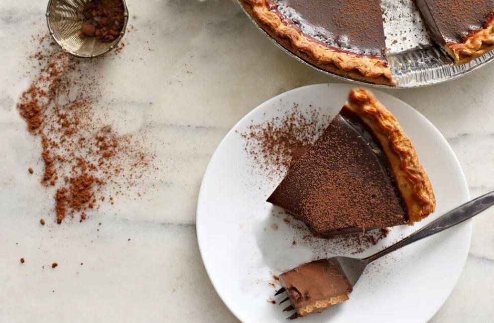 Vegan Σοκολατόπιτα με αφράτη κρούστα βίγκαν γλυκό συνταγή