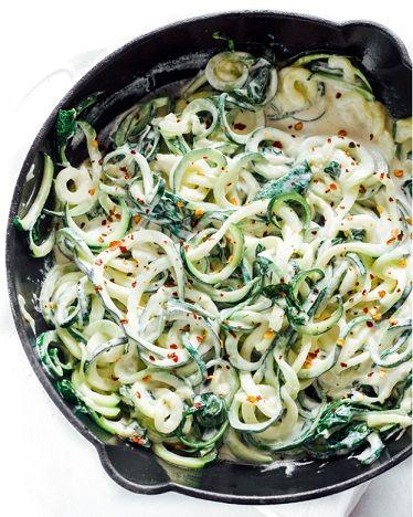 Vegan Noodles Κολοκυθάκι σε λευκή σάλτσα συνταγή